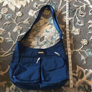 Baggallini blue anti theft crossbody purse